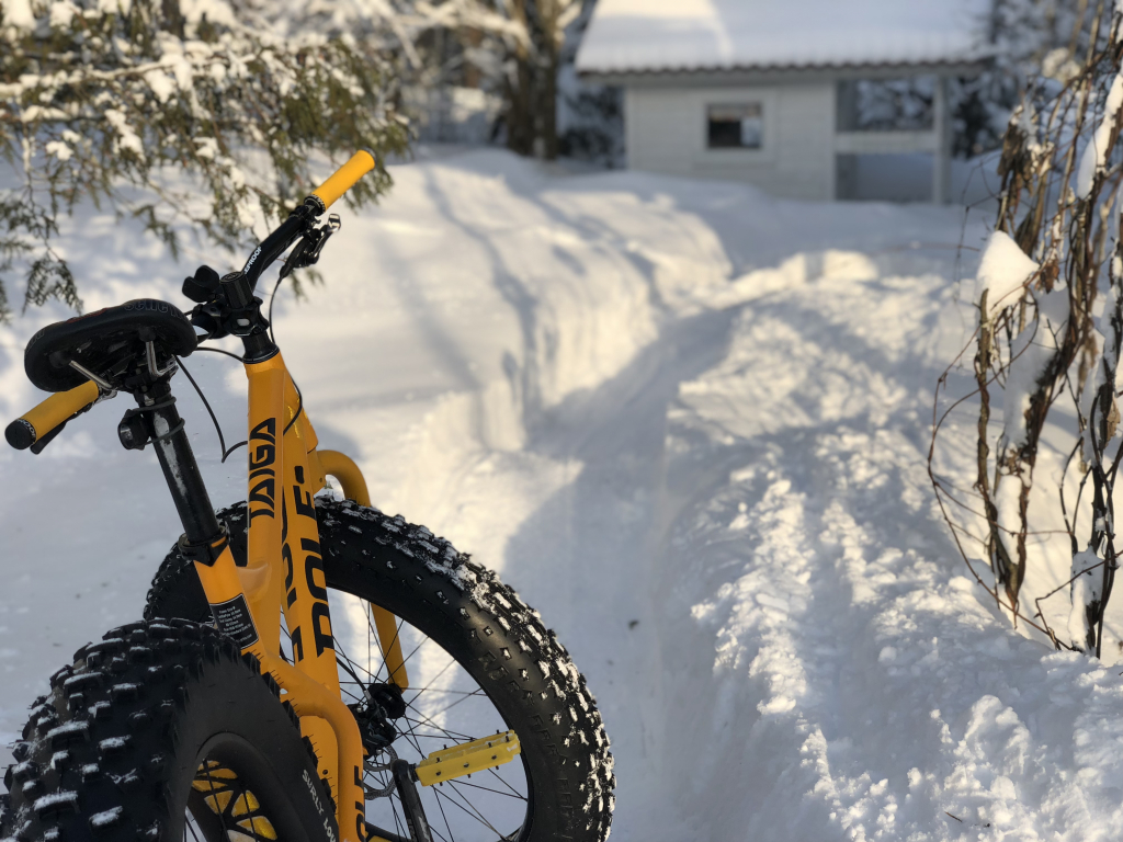 Pole Taiga winter pump track